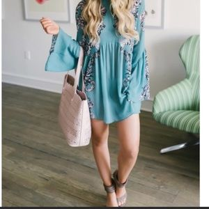 Turquoise Free People Dress